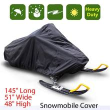 Snowmobile כיסוי עמיד למים אבק Trailerable מזחלת כיסוי אחסון אנטי Uv לכל המטרה כיסוי חורף אופנוע חיצוני 368*130*121cm