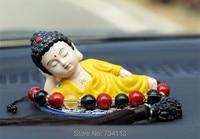 Sleeping Buddha Cars rulai Maitreya Buddha statues home ornaments Personality creativity Safe and upscale decorations bless luck