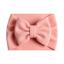 New fashion big bow headband elastic knot Hair Bow hairband  girls Turban Fabric Headwrap diy candy color hair accessories