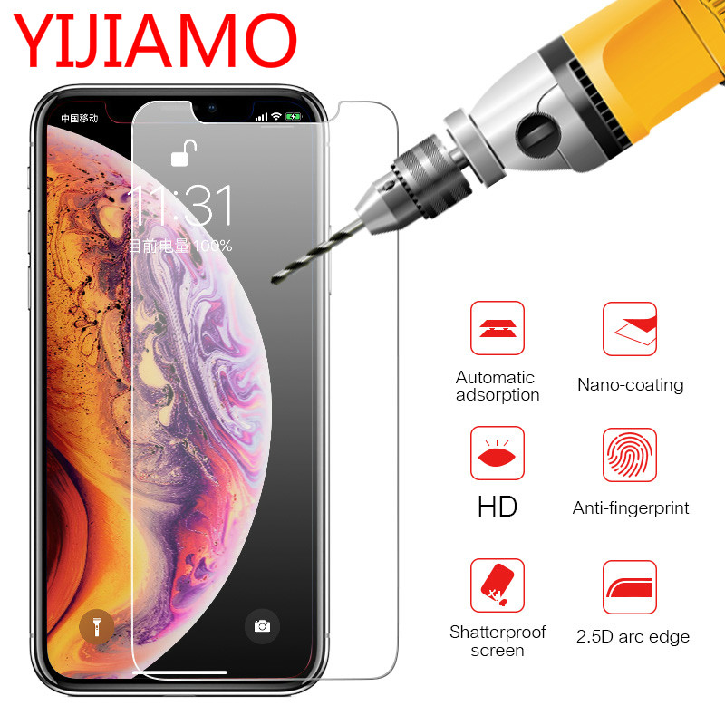 Tempered-Glass Screen-Protector iPhone Xs XR 8-Plus 9H for Max 5c 5s Guard-Film 4s 6s