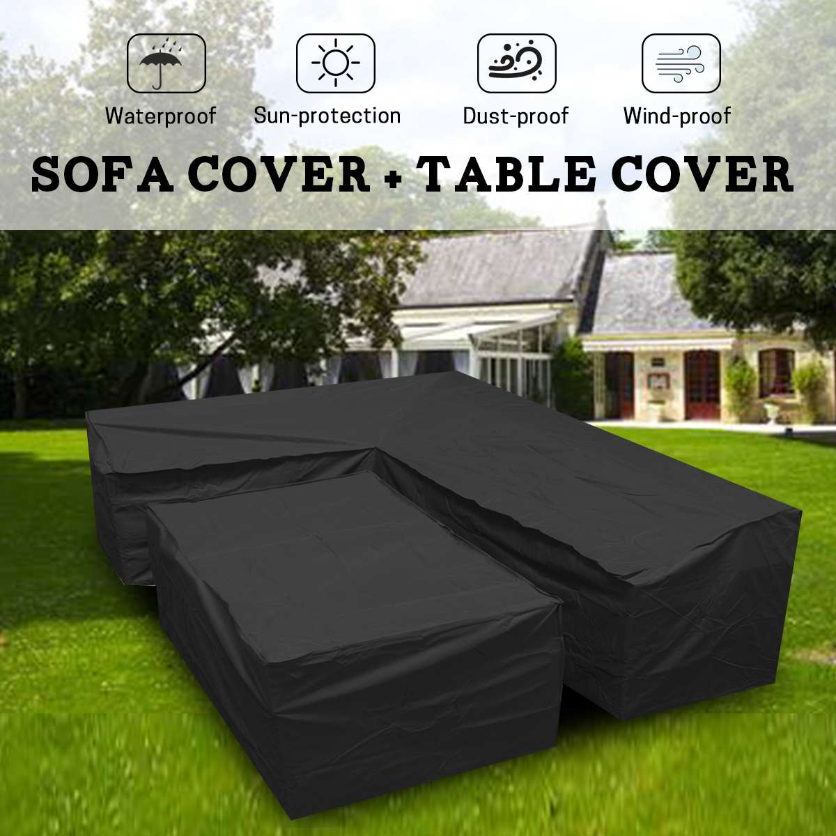 100% Quality Home Sale Waterproof Dust-proof Furniture Chair Sofa Cover Garden Patio Outdoor Rain Snow Dustproof Covers Household Merchandises Dust Covers