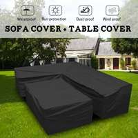 Polyester Waterproof Outdoor Patio Garden L Shape Furniture Covers Rain Snow Chair Covers for Sofa Table Chair Dust Proof Cover