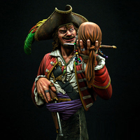 1pc 1:9 Scale Model Resin People Figure Resin Character Bust Game Movie Character Pirate GK Unpainted And Unassembled