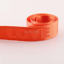 5 ярдов 1 дюйм 25 мм полотняная лента оранжевого цвета love
