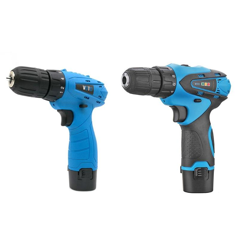 200*190*45mm/7.87*7.48*1.77 ABS alloy 950g 12V Lithium Electric Charging Drill Household Electric Screwdriver w/Lamp