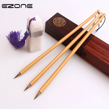 EZONE 1PC Classical Writing Brush For Chinese Ink Watercolor Oil Painting Weasel Hair Hook Line Pen Calligraphy Practice Supply - discount item  20% OFF Art Supplies