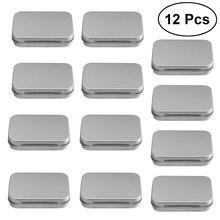12Pcs Metal Box Flip Storage Box Cards S