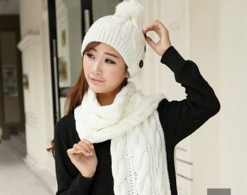 Women Winter Warm Braided Knit Wool Long   Scarf     Wrap   Shawl   Scarves