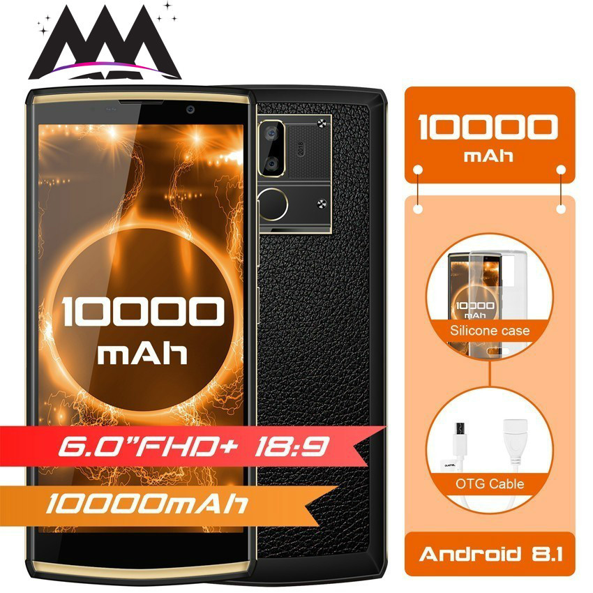 OUKITEL K7 10000 mAh 9 V/2A Charge rapide 4G Smartphone Android 8.1 6.0