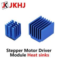 Peças da impressora 3d a4988 drv8825, lv8729 tmc2100 tmc2208, módulo do motor de passo, dissipadores de calor bloco de resfriamento