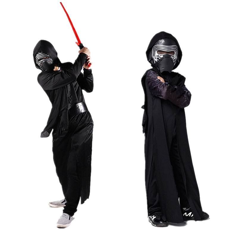 New Star Wars Cosplay Costumes for Kids Darth Vader Jedi Knights of Ren May The Force Be with You Performance Clothing