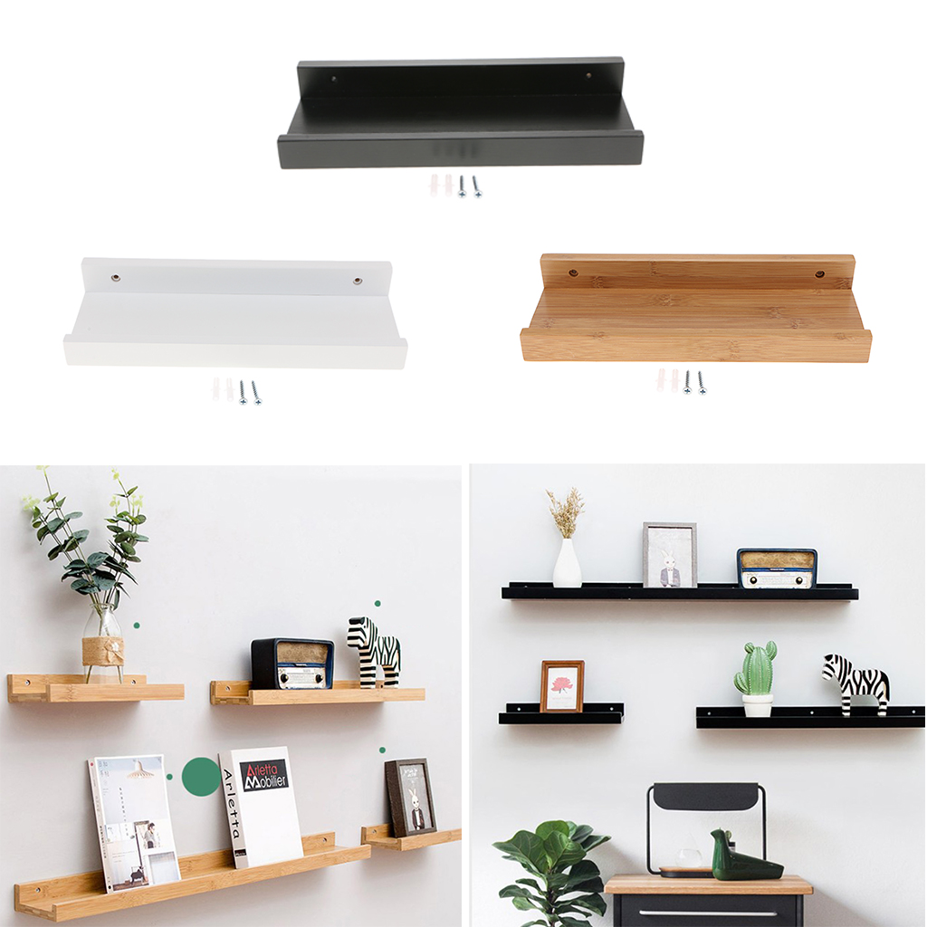 Kitchen Floating Shelves Wall Mounted Wooden Rack Decor for Room, Kitchen Storage and Display DIY Hanging Decorative Shelves iPhone 8