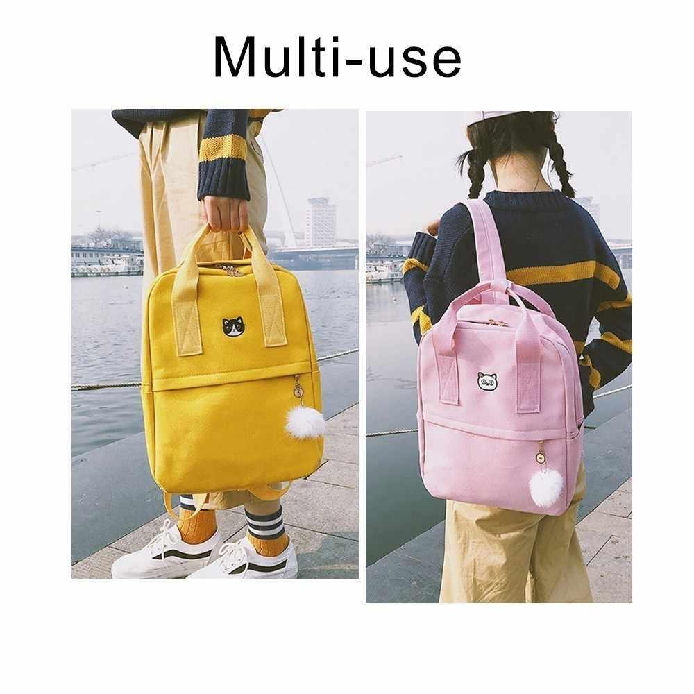 Модный холщовый рюкзак с милой вышивкой в стиле Харадзюку для девочек, школьный ранец в консервативном японском стиле, сумка для девочек, Mochila