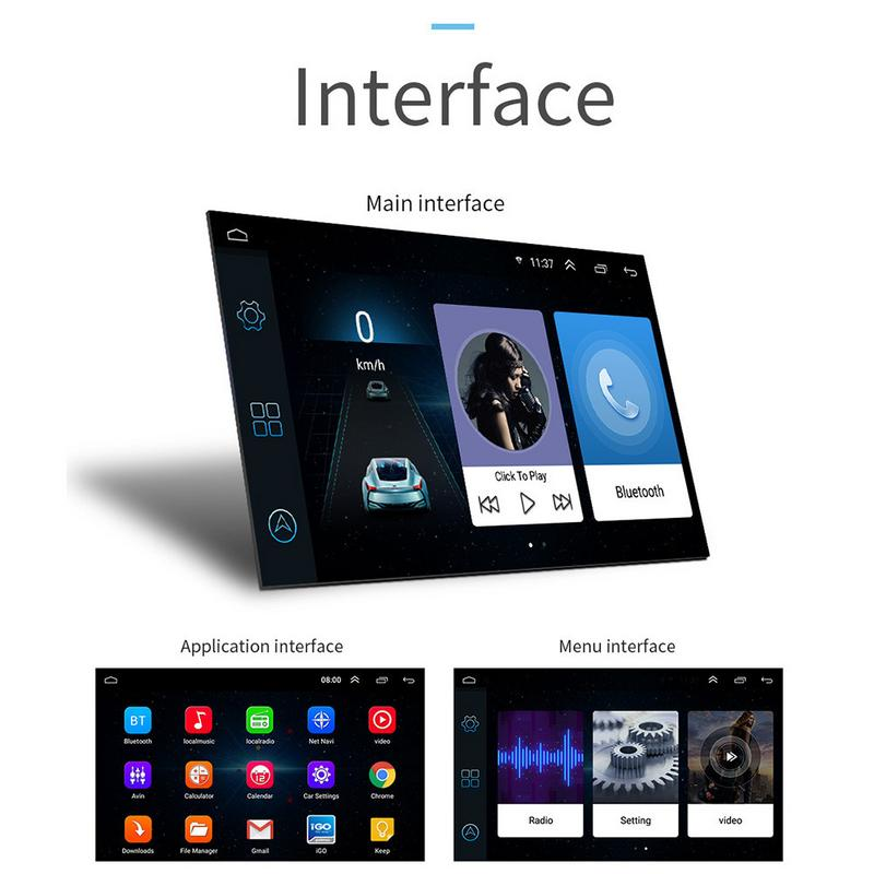 Android 8.1 16G Memory 7 Inch Touch Screen Button HD Car Bluetooth MP5 Player 2 DIN Universal GPS Navigation One MachineAndroid 8.1 16G Memory 7 Inch Touch Screen Button HD Car Bluetooth MP5 Player 2 DIN Universal GPS Navigation One Machine