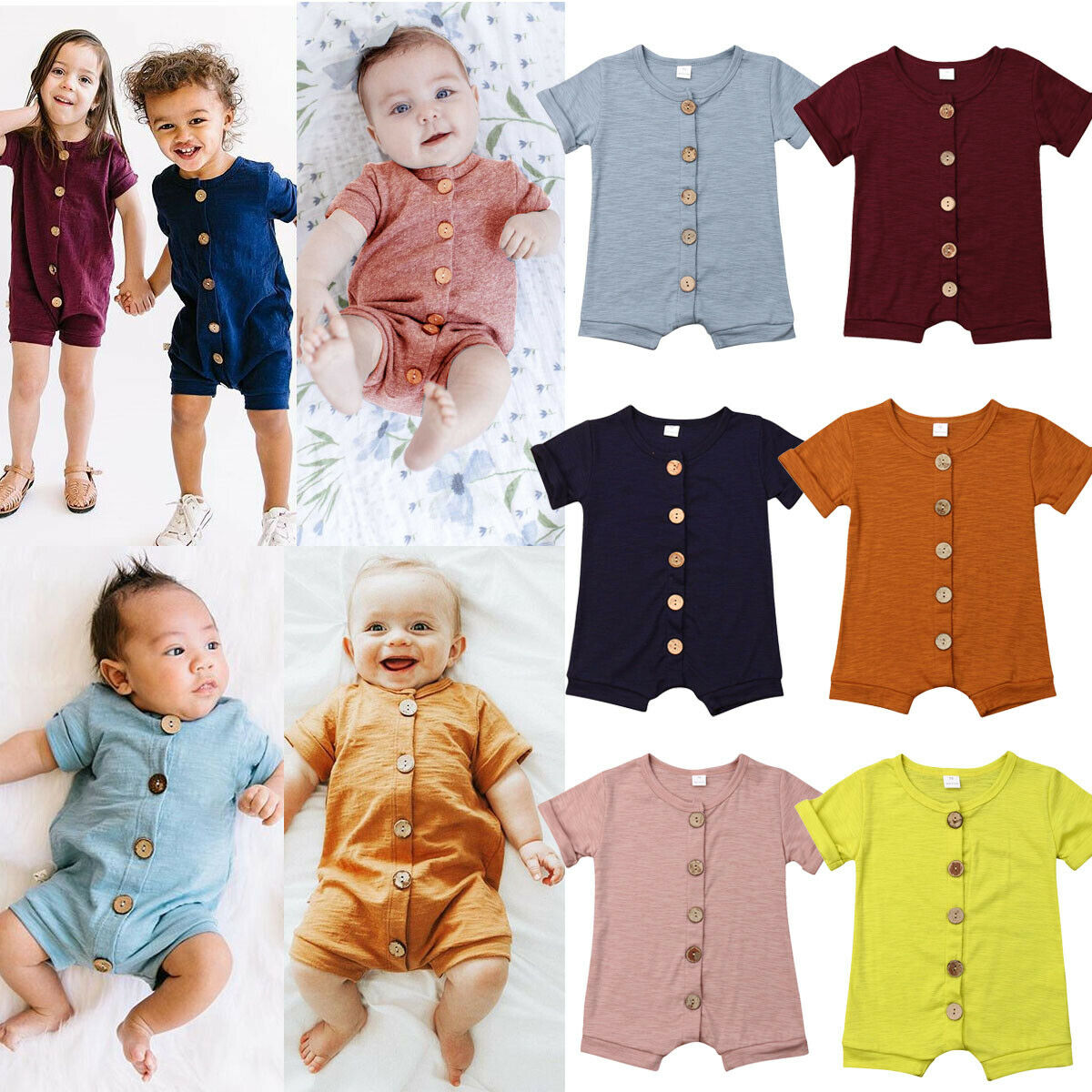 Pudcoco Baby Kids Jumpsuits 0-24M NEW Summer Infant Baby Boy Girl   Romper   Jumpsuit Sunsuit Outfit Clothes