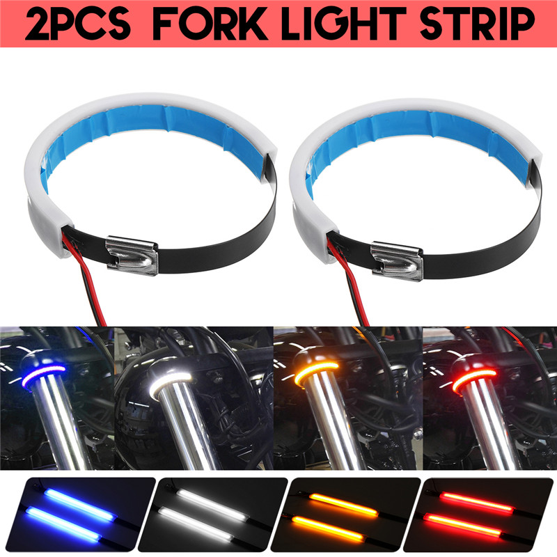 2x Red / White / Blue / Yellow 60 SMD 23CM LED Strip Light Flexible Car Decor Motor Truck Motorcycle Decoration