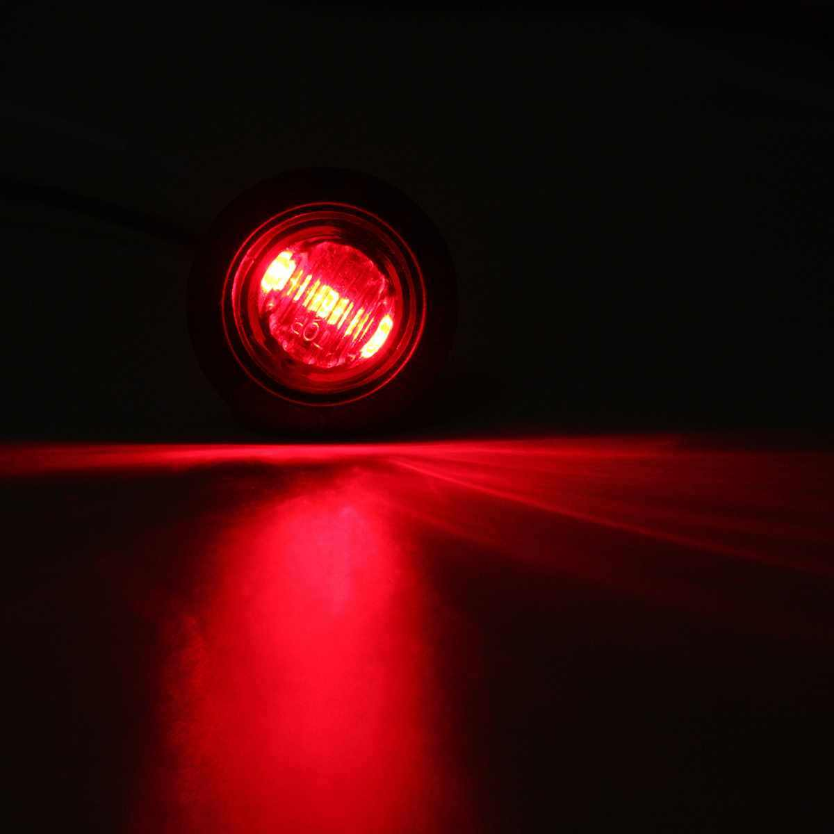 Universal 5 Colors 12V Car Truck Trailer Mini Small Round LED Bullet Button Side Marker Lights Signal Lamp Waterproof