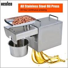 Xeoleo масло пресс машина оливковое масло машина из нержавеющей стали холодная и горячая 750 Вт Подходит для миндаля/арахиса бытовой