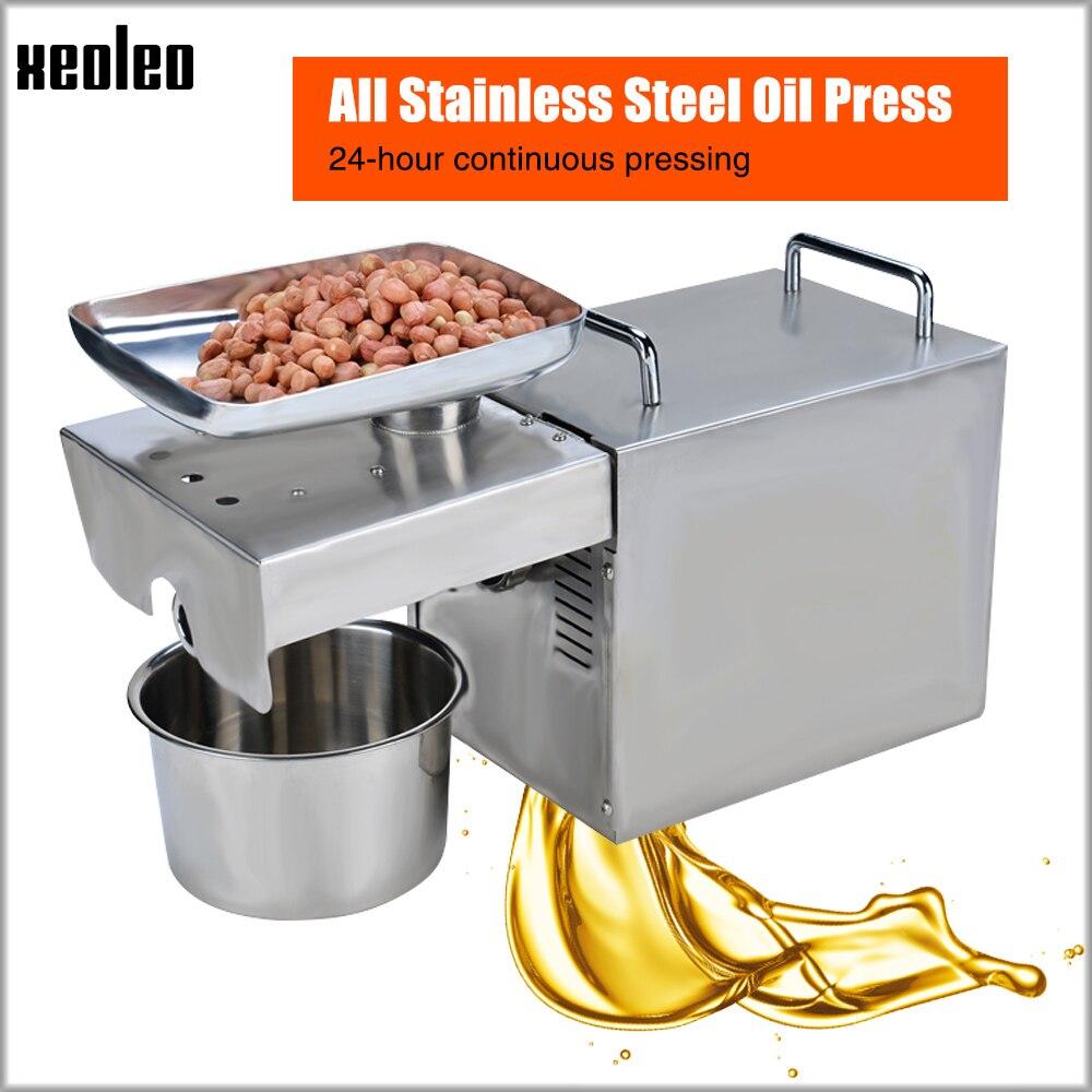 Xeoleo presse À Huile machine presseur D'huile D'huile D'olive machine en acier Inoxydable Froide et Chaude 750 W approprié pour amande/ d'arachide Ménage