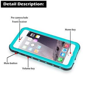 Image 5 - IP68 מקרה עמיד למים עבור iPhone 7 8 שחייה צלילה חיצוני עמיד הלם כיסוי עבור iPhone 5S SE 2020 6S 7P 8 בתוספת הגנה מלאה