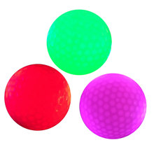 3 Pcs Luminous Night Golf Balls LED Light Up Golf Balls Glow in the Dark Bright Long Lasting Reusable Night Golf Ball(China)