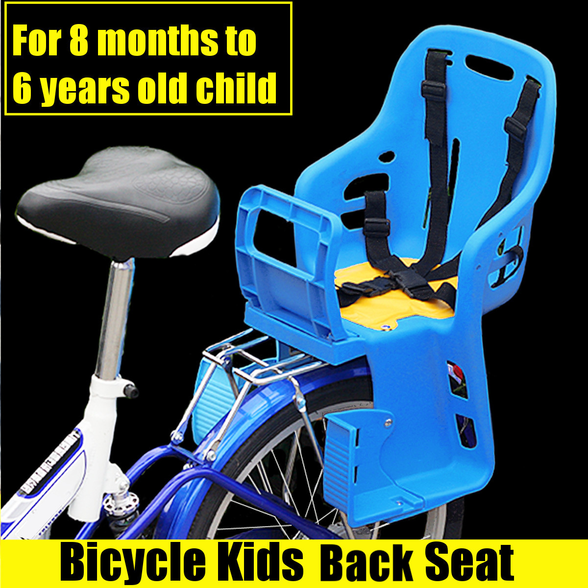 Good Quality Kids Safety Cycling Seat Back Seat Mat Child Bicycle Saddle Traveling Bike Chair With Cushion Armrest Rear Footrest все цены