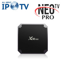 Ban đầu X96 Mini IPTV Set Top Box Neo Pro IPTV Arabic Pháp X96mini Thông Minh Tv Box(China)