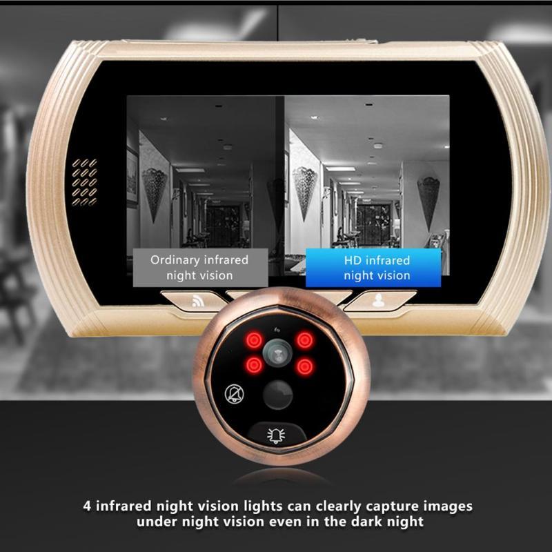 4.3 inch Smart WiFi Electronic Door Viewer Doorbell 720p Camera Digital Peephole Door Bell Gold Low power consumption4.3 inch Smart WiFi Electronic Door Viewer Doorbell 720p Camera Digital Peephole Door Bell Gold Low power consumption