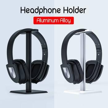Uniwersalny aluminiowy uchwyt na słuchawki słuchawki wieszak na słuchawki słuchawki biurko stojak wspornika półki wieszak wspornik pomocniczy tanie i dobre opinie KINCO Słuchawki Stojak 22*10 5cm 8 66 *4 13 Aluminium