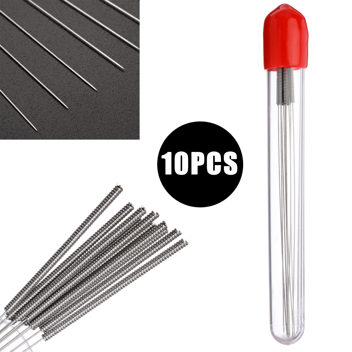 10pcs/Set 105mm Length Print Nozzle Cleaner 0.4mm Drill Bits For Cleaning 3D Printer Blocked Nozzles