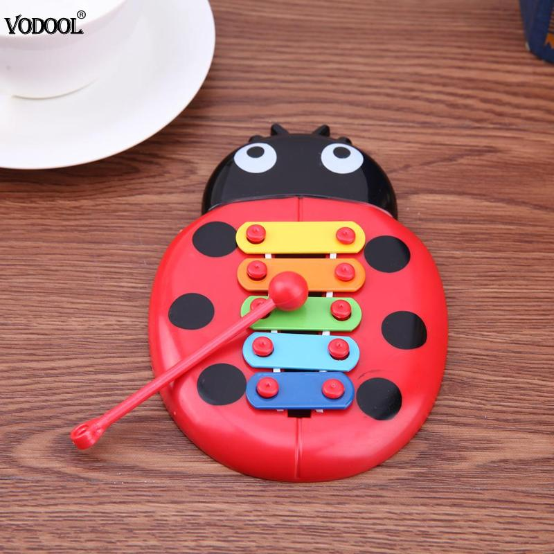 Five-Tone Lady Bug Piano Music Toy Baby Early Education Musical Instruments Children 's Toys Christmas Gifts