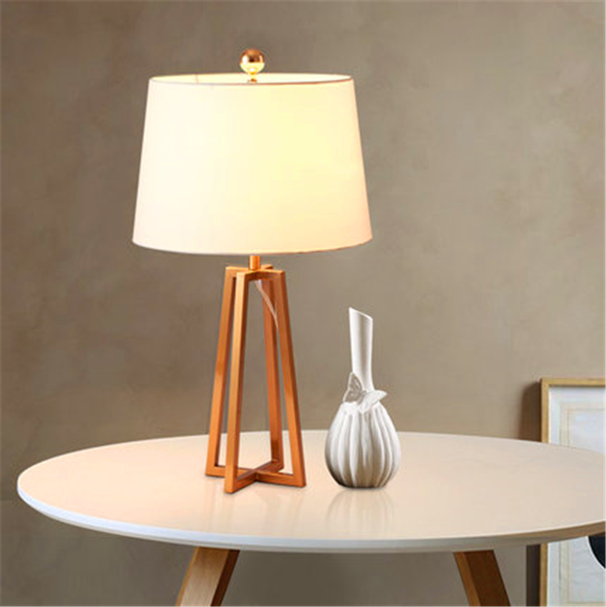 Nordic Wood Led Table Lights Office Decor Cloth Lampshade Desk Lamps Bedroom Bedside Reading Table Lamps Kitchen Fixtures Avize Led Lamps Led Table Lamps