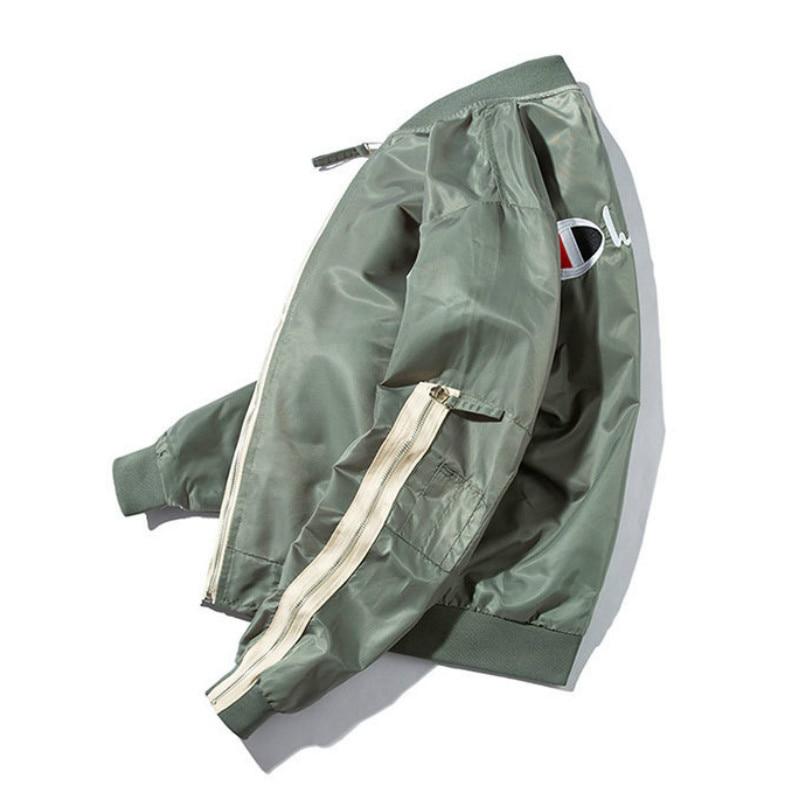 marrón Gótico Hombres verde Tops De Vuelo Abrigo Bomber Streetwear Militar Diseñador Japonés Hombre Bombardero Chaqueta Negro IT6wTqv