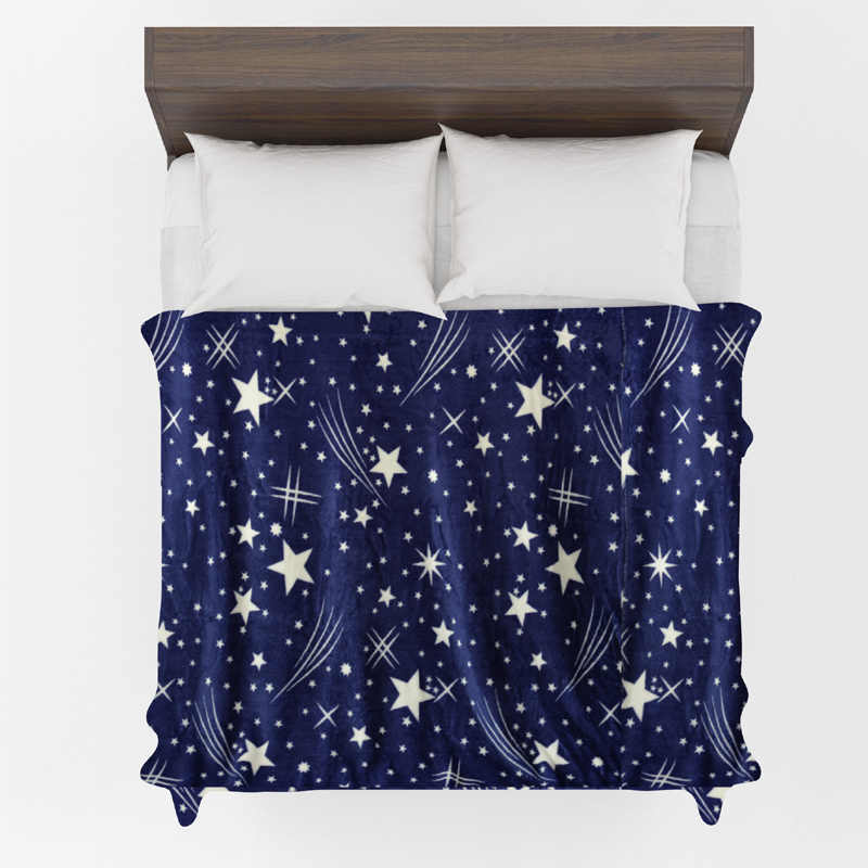 Яркие звезды покрывало одеяло 200x230 см высокой плотности супер мягкие фланелевые на для диван/кровать/автомобиль портативный пледы