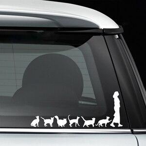 Image 2 - 20*7.8 センチメートル猫クレイジー猫女性かわいい変な車の窓デカールバンパーステッカーペットペットビニール車ラップの装飾