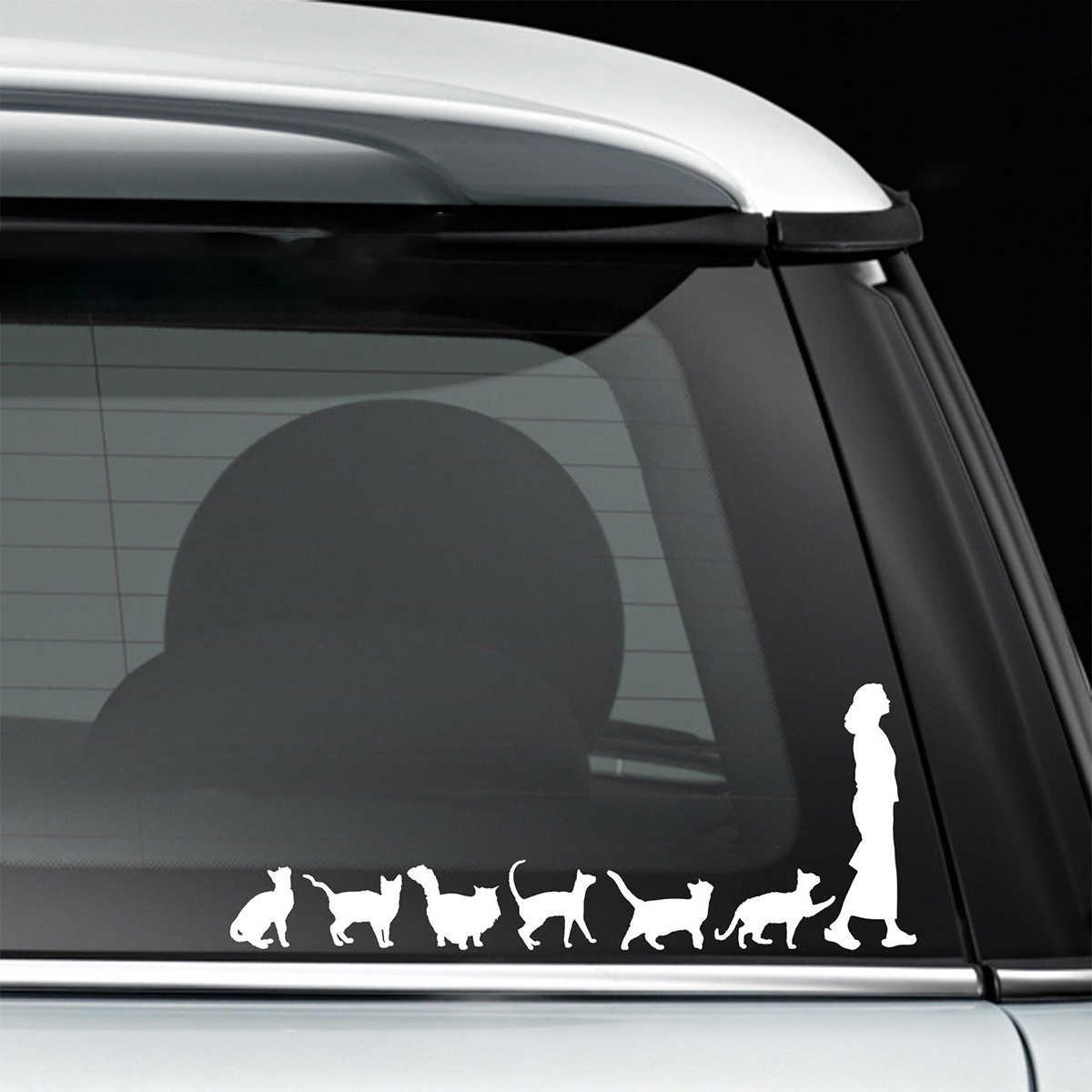 20 7 8cm Cats Crazy Cat Lady Woman Cute Funny Car Window Decal Bumper Sticker Pet Pets Vinyl Car Wrap Decor Decals Car Stickers Aliexpress