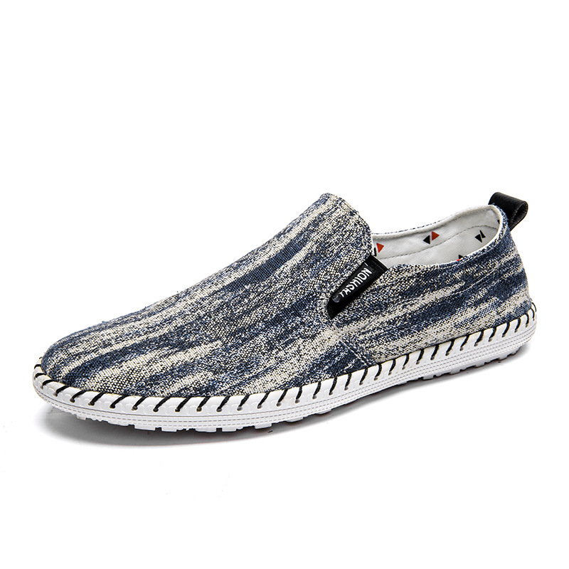 2019 Spring Soft Moccasins Men 39 s Denim Lazy Loafers Summer Breathable hemp Shoes casual Gommino Driving Shoes for men Yeeloca in Men 39 s Casual Shoes from Shoes