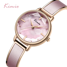 KIMIO 2019 Fashion Bracelet Womens Watches Top Brand Luxury Womans Watch Ladies Quartz Watch Women Casual Dress relogio feminino luxury brand kimio fashion ladies genuine leather women watches relogio feminino women s watches waterproof quartz watch clock