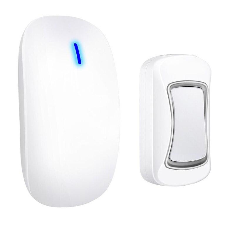 Intelligent Wireless Doorbell Waterproof 300M Remote Long Range Door Bell 1x Outdoor Transmitters 1x Indoor Receiver(Us Plug)