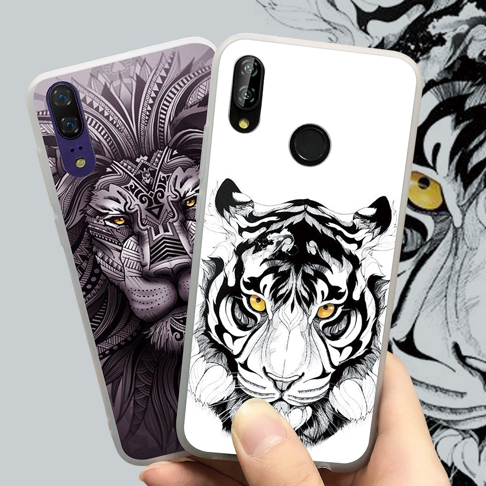 CASEIER Animal Pattern Case For Huawei P20 P9 P10 Mate20 Lite P Smart 2019 TPU Soft Case For P20 Mate20 Pro Honer 7A 9 10 Coque in Fitted Cases from Cellphones Telecommunications