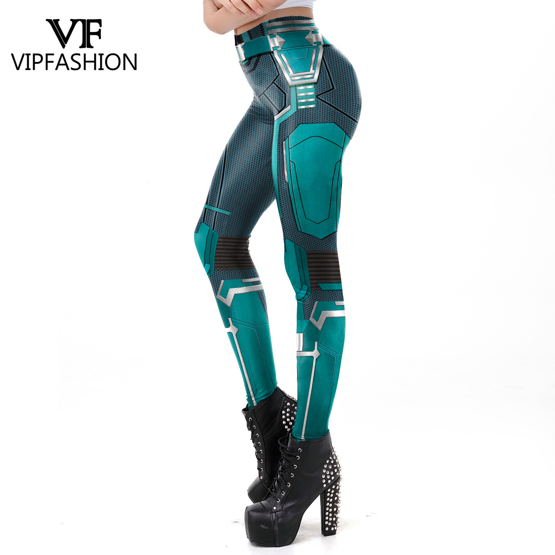 VIP FASHION 2019 3D Captain Marvel Printed Leggings Women Workout Fitness Legging Super Hero Movie Legings Plus Size Fitness