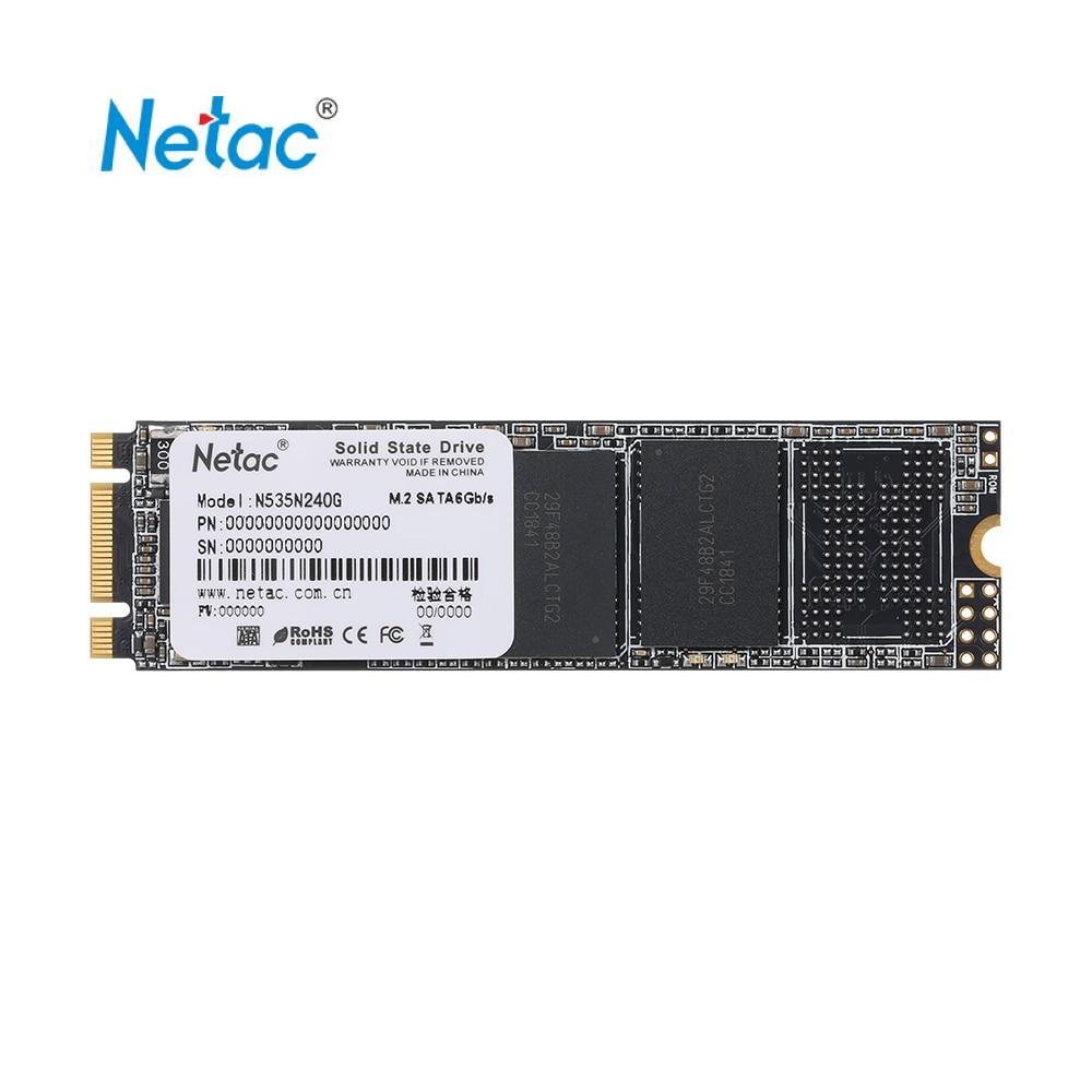 Disque SSD Netac N535N M.2 2280 SSD SATAIII 6 Gb/s 120 GB 240 GB PCIe Gen3 3D MLC/TLC NAND Flash à semi-conducteurs