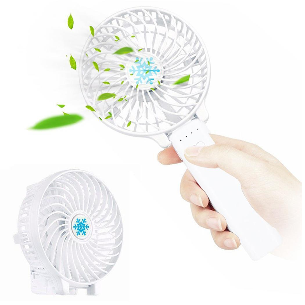 Portable Mini USB Fan Foldable Air Conditioning Fans Hand Held Cooling Fan Rechargeable Fan battery not includeAir Cooler