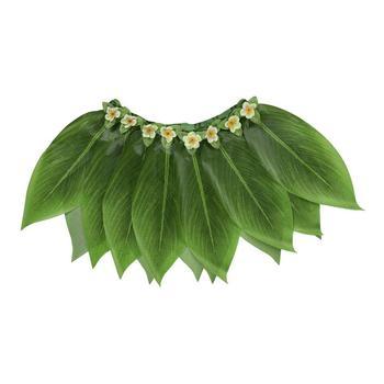 df726db24 Verano Popular mujeres señoras Mini falda Sexy fiesta verde hawaiana Hula  hierba fiesta Luau falda playa baile traje hojas flores