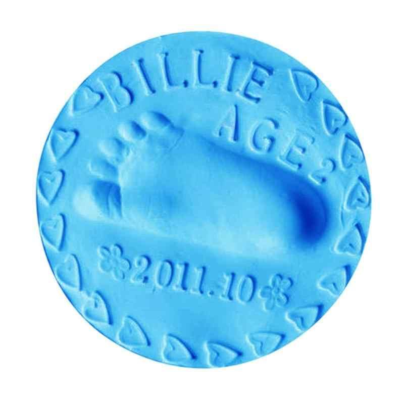 Детские руки след производители младенческой 7 цветов сушка мягкая глина 3D отпечатков пальцев производители отпечаток Наборы родитель-ребенок подушечка Сувениры