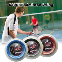 600FT 0.72mm Badminton Racket String Badminton Training Racket String Resilient Replacement Badminton Racquet Line String(China)