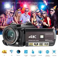 AC3 IPS WIFI 13MP 30X Zoom 4K HD Digital Video Camera Camcorder 3.1'' Touch Screen with wide Angle lens hood microphone