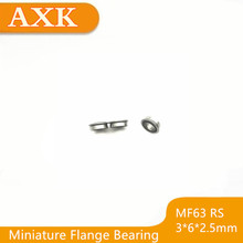 2019 Top Fashion Time-limited Mf63-2rs Bearing 3x6x2.5mm ( 10 Pcs ) Abec-1 Miniature Flanged Mf63rs Ball Bearings Lf-630dd цена и фото