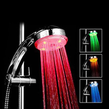 RGB 7 Colour Automatic Changing LED Shower Head Sprinkler Faucet Water Current Energy 88 WXV Sale