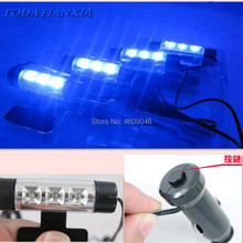 4x 3LED Light Car Interior accessori per hyundai i30 skoda h7 volkswagen golf 4 ford focus 3 toyota auris sedile exeo bmw e46